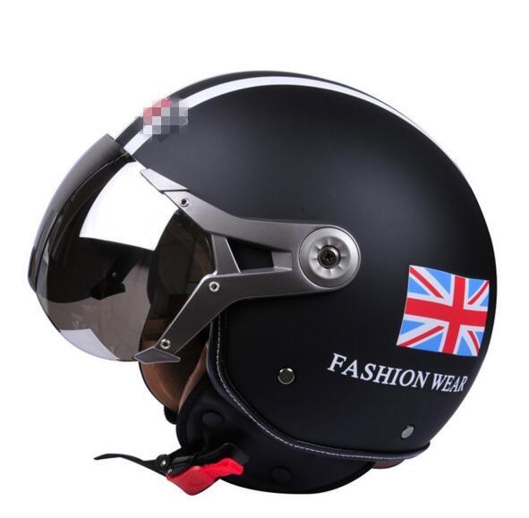 2017 r tro hommes femmes casques de moto vintage casque. Black Bedroom Furniture Sets. Home Design Ideas