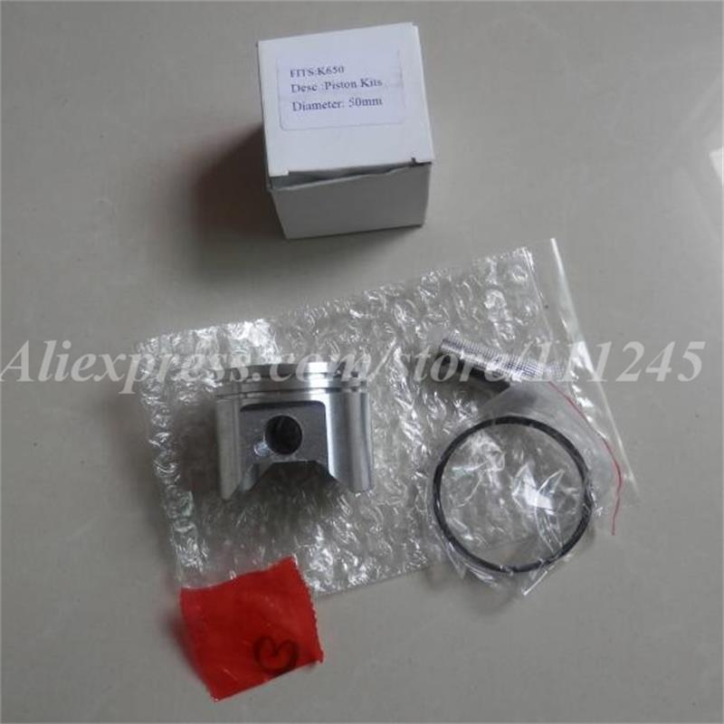 PISTON KIT 50MM FITS PARTNER HUS  K650 K700 CYLINDER ASY  CONCRETE  CUT OFF SAWS ZYLINDER KOLBEN  RING  PIN  CLIP 38mm cylinder barrel piston kit