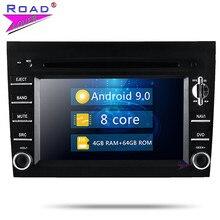 Radio de reproductor de DVD para coche Roadlover Android 9,0 para Porsche 911 997 Caimán 2005-2008 Boxter 2005-2012 estéreo de navegación GPS Magnitol
