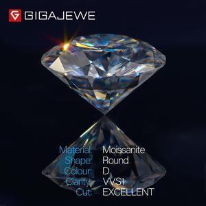 Image 2 - GIGAJEWE D カラー 1 3ct VVS1 モアッサルースダイヤモンドテスト合格トップ品質証明書ラボ宝石ジュエリーメイキングのために