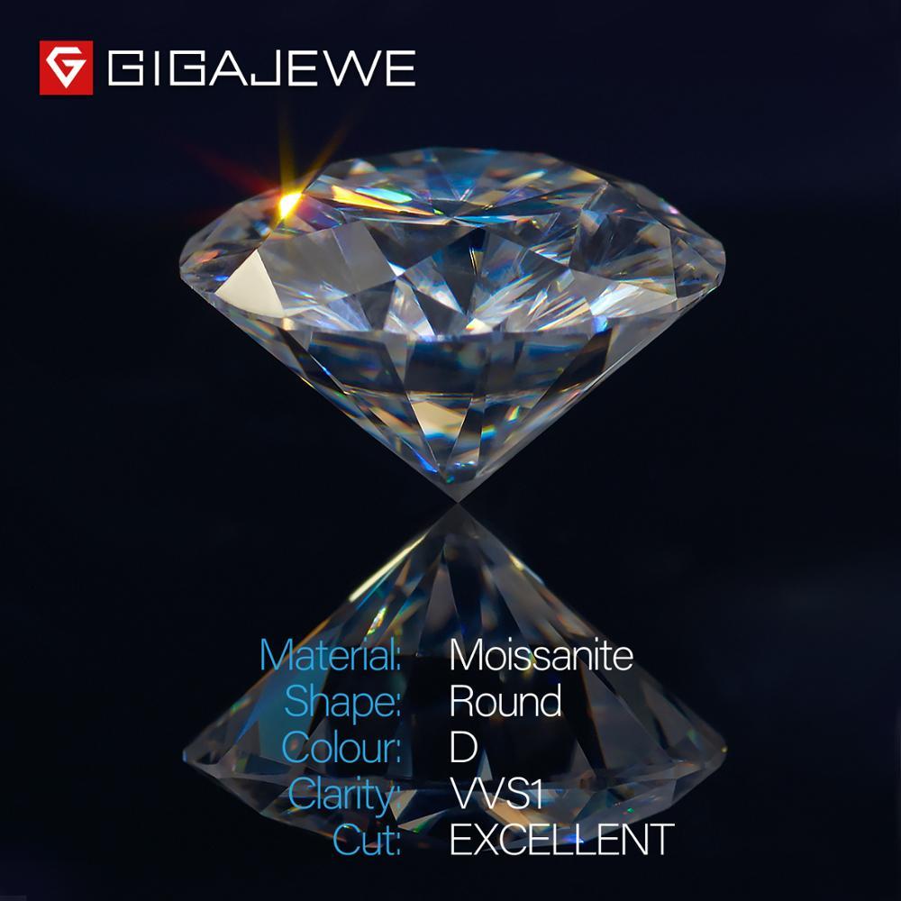 GIGAJEWE D Farbe 1 3ct VVS1 Runde Moissanite Lose Diamant Test Bestanden Top Qualität Mit Zertifikat Labor Edelstein Für Schmuck Machen-in Perlen aus Schmuck und Accessoires bei  Gruppe 2