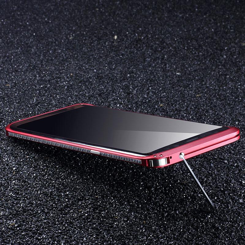 Luxury Diamond Aluminum Metal Phone Case For Samsung Galaxy S8/ S8 Plus Original iMatch Bumper Case Invisible Kickstand Bumper
