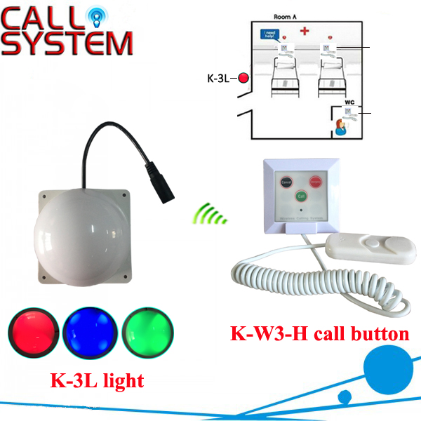 Hosiptal Patient Calling System 1 corridor light with 1 bell buzzer wireless equipment wireless service call bell system popular in restaurant ce passed 433 92mhz full equipment watch pager 1 watch 7 call button