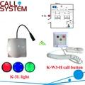 Hosiptal sistema de chamada paciente 1 corredor luz com 1 campainha sino equipamentos sem fio
