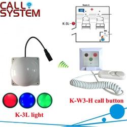Luz do corredor do sistema de chamada do paciente do hospital 1 com equipamento sem fio da campainha do sino