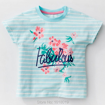 Brand 100% Cotton New 2018 Summer Baby Girl Clothing Toddler Children Kids Clothes Tees T-Shirt Short Sleeve t Shirt Girl Blouse