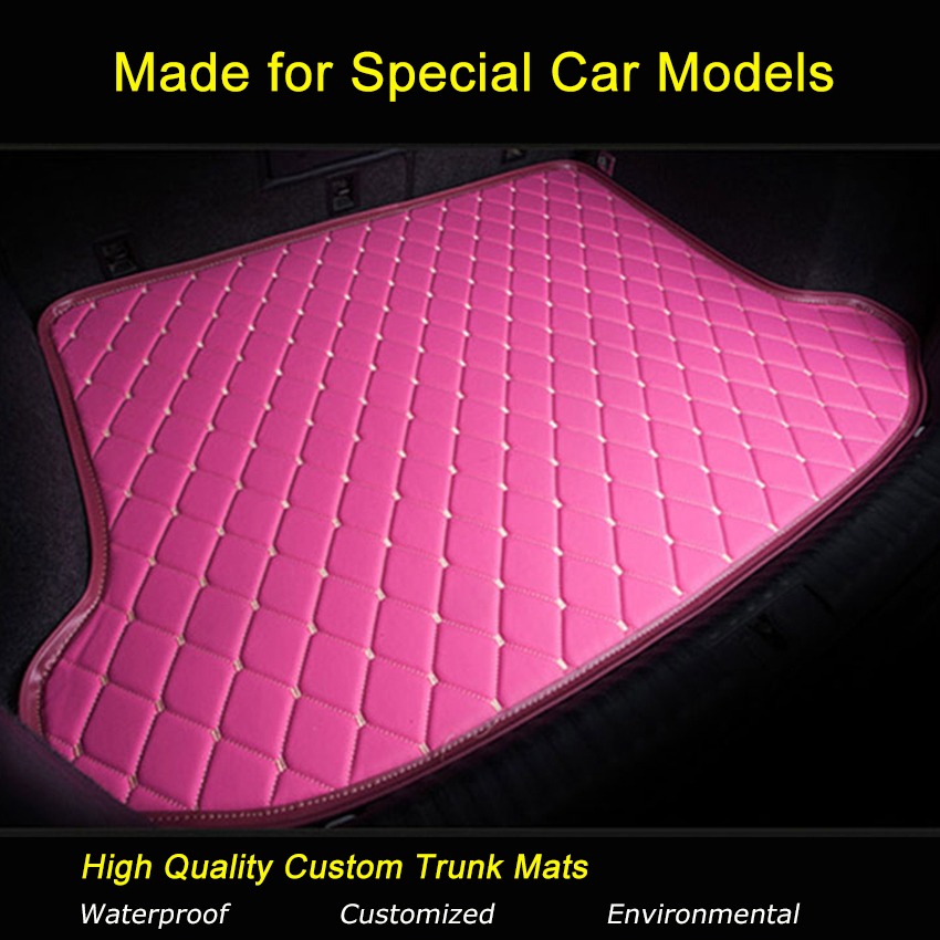 For Fiat 500 Bravo Viaggio Freemont Car Trunk Mats Carpets Waterproof Customized Trunk Rugs car storage net for bottles groceries storage add on for fiat viaggio bravo freemont fiat 500 palio