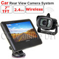 """2.4GHz 7"""" inch TFT LCD Monitor Wireless Car Rear View system With a Weatherproof 15LEDs IR Night Vision Parking Reversing Camera"""