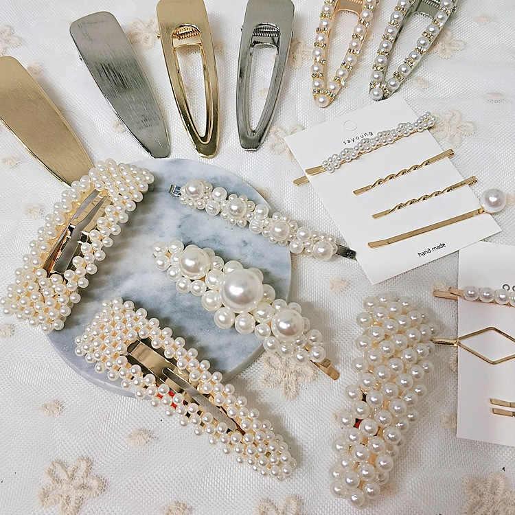 Заколки с бусинами Шпилька заколка головной убор женские свадебные аксессуары для волос невидимые с жемчугом заколки ободок жемчуг XM115