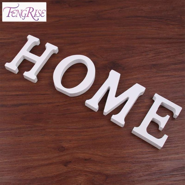FENGRISE Wooden Letters DIY Wood Gift Wedding Table Decor Craft Home Decoration Birthday Party Supplies White A To Z Alphabet