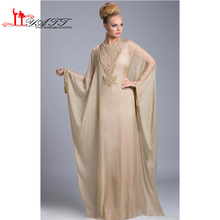2016 New Famous Design Evening Dress Kaftan Dubai Fancy Farasha Abaya jalabiya Islamic Long Sleeve formal party Prom Dress