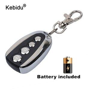 Image 1 - Kebidu Mini elektrikli 4 düğme 433Mhz araba Rolling kod uzaktan teksir garaj kapı uzaktan kumandası açacağı elektrikli ev için