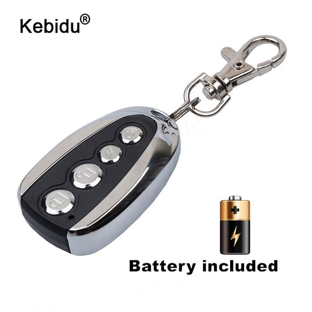 Kebidu Mini elektrikli 4 düğme 433Mhz araba Rolling kod uzaktan teksir garaj kapı uzaktan kumandası açacağı elektrikli ev için