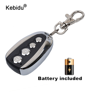 Image 1 - kebidu Mini Electric 4 Button 433Mhz For Car Rolling Code Remote Duplicator Garage Door Remote Control Opener Electric For Home