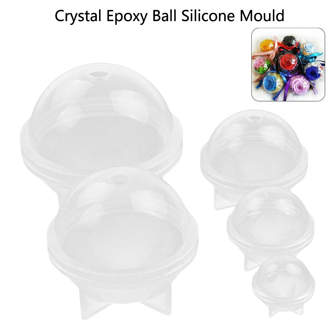 1 PCS Transparent Silicone Mold 3D Ball Jewelry Making Tool Moulds UV Resin Epoxy Resin Jewelry Epoksi Silikon Kalip