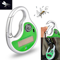 2016 New Green Portable Mosquito Insect Killer Mosquito Insect Killer Mosquito Repeller Hook Type Solar Ultrasonic with Compass