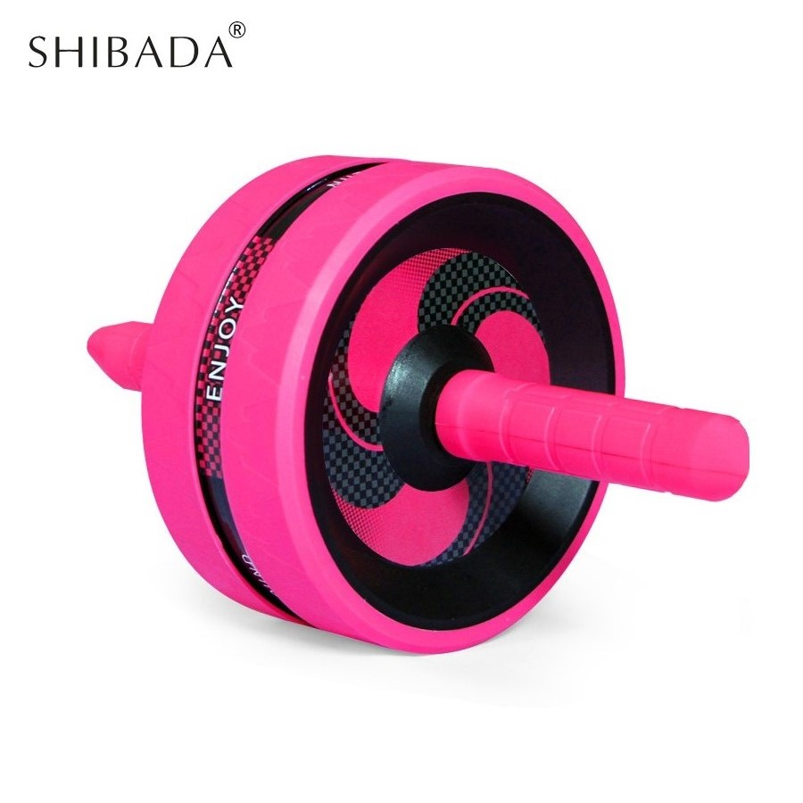 SHIBADA ABRoller Abdominal Exerciser Dual Fitness Wheel Muscle Trainer Fitness Abdomen Stimulator Strength Workout Gym Equipment