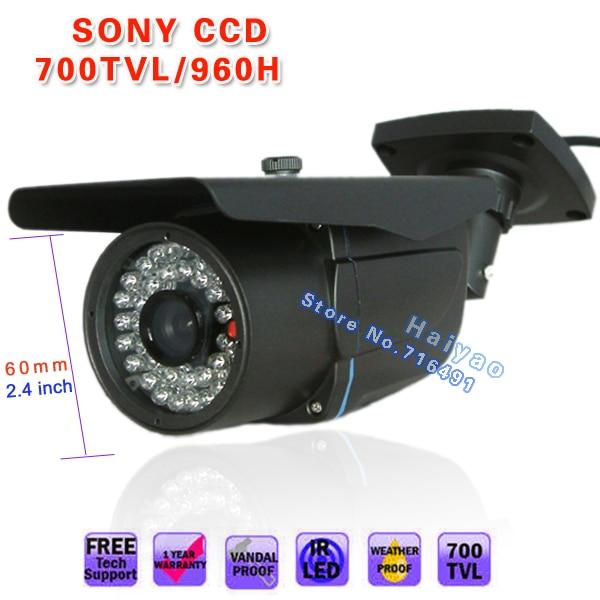 1/3 SONY Effio-E  EXview HAD CCD II 700TVL outdoor Waterproof 6mm IR monitor wall bracket CCTV SECURITY Surveillance CAMERA hot promotion 2000tvl sony ccd ir outdoor
