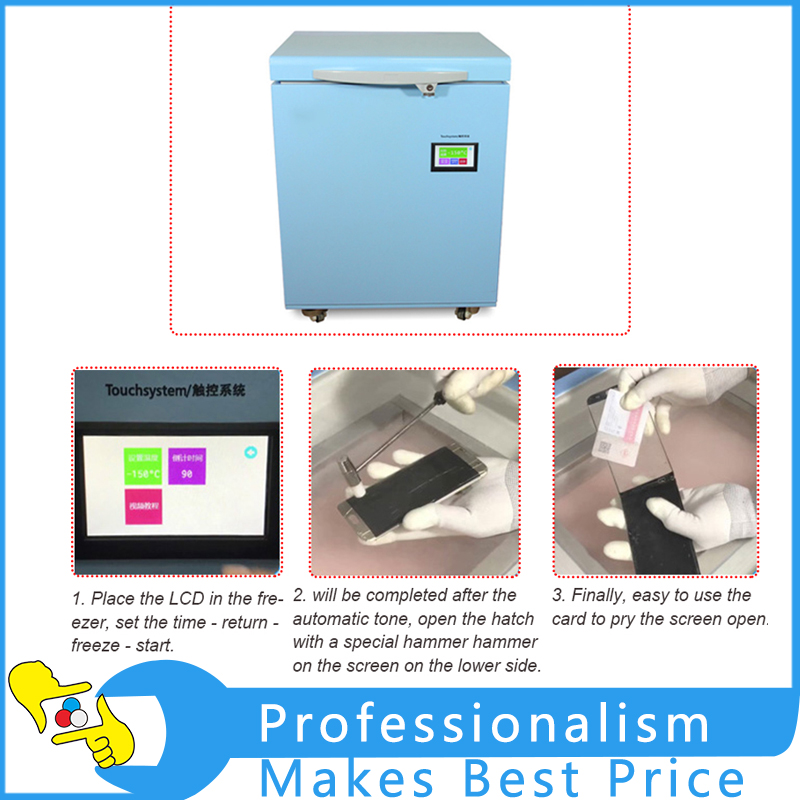 TBK-598 Frozen Separator Press Screen LCD Touch Screen Repair Machine LCD Assembly Automatic Separator built in air vacuum pump ko semi automatic lcd separator machine for separating assembly split lcd ts ouch screen glas