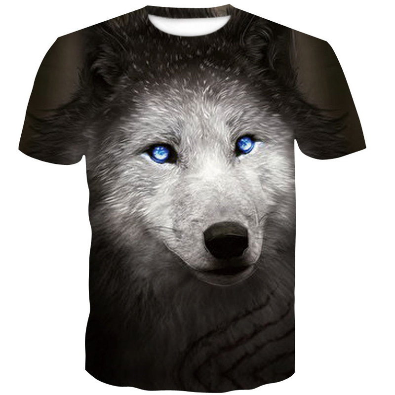 Men 39 s clothing Newest Summer Brand large size 3D Wolf head T shirt men round collar short sleeve T shirt men fashion t shirt in T Shirts from Men 39 s Clothing