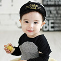 Spring Autumn New 2016 Dot Print Cute Cat Children Baseball Cap Newborn Baby Snapback Hats For Girls Boys Photography Props C047