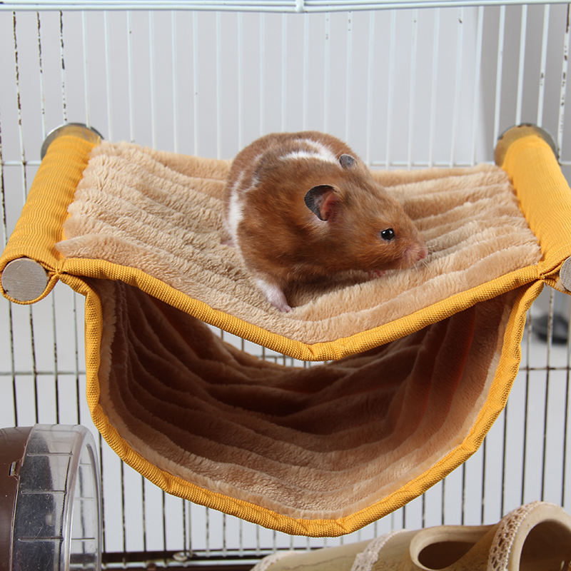2 Color Hamster Hanging House Cage Sleeping Nest Cage Swing Pet Sugar Glider Hammock Small Animals supply