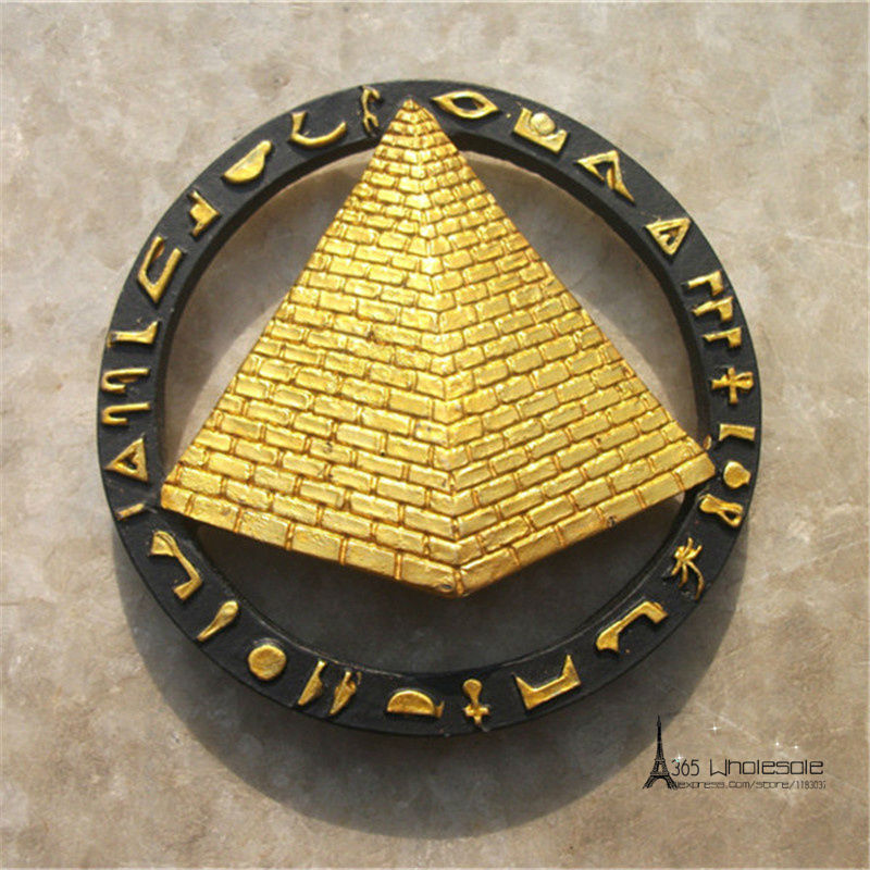 Free Shipping Tourist Souvenir Fridge Magnets Egypt Pyramid Pharaoh Figures toys car hom ...