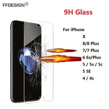 Protecive Glas Voor Iphone X 8 7 6 6 S Plus 5 Se 5 S 4 4 S Gehard Glas op Iphone Se 6 7 8 Plus Screen Protector Film Folie Saver(China)