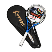 One Piece Professional A Level Competition Carbon Fiber Training Tennis Rackets With Carry Bag