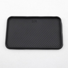 Black Mat Car Dashboard Silicone Non-Slip Storage Front Catcher 200x128mm Hot High Quality Accessory Universal