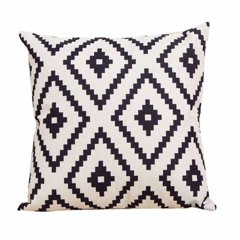 New diamond Pattern pillowcase slip vintage black serrated cushion case pillow slip square shape drop shipping on sale