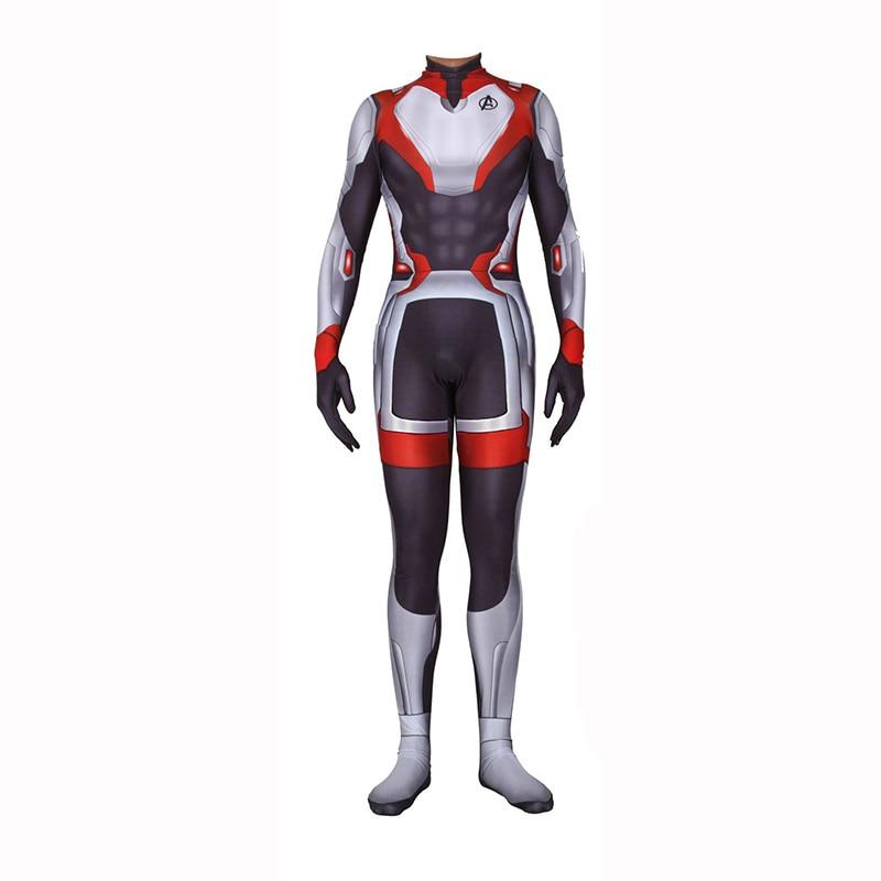 Lycra Avengers Endgame Quantum Realm Suit Costume Cosplay Superhero Captain America Captain Marvel Zentai Bodaysuit
