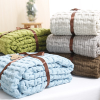 Pure Color Blanket Sofa Decorative Slipcover Throws On Sofa Bed Plane Office Travel Plaids Rectangular Stitching