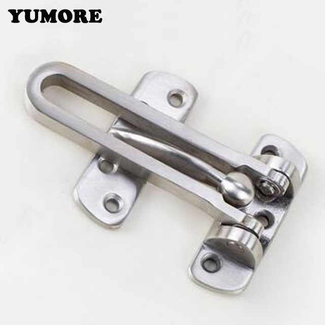 YUMORE 304 Stainless Steel Hasp Latch Lock Door Chain Anti-theft Clasp Convenience Window Cabinet  sc 1 st  AliExpress.com & YUMORE 304 Stainless Steel Hasp Latch Lock Door Chain Anti theft ...