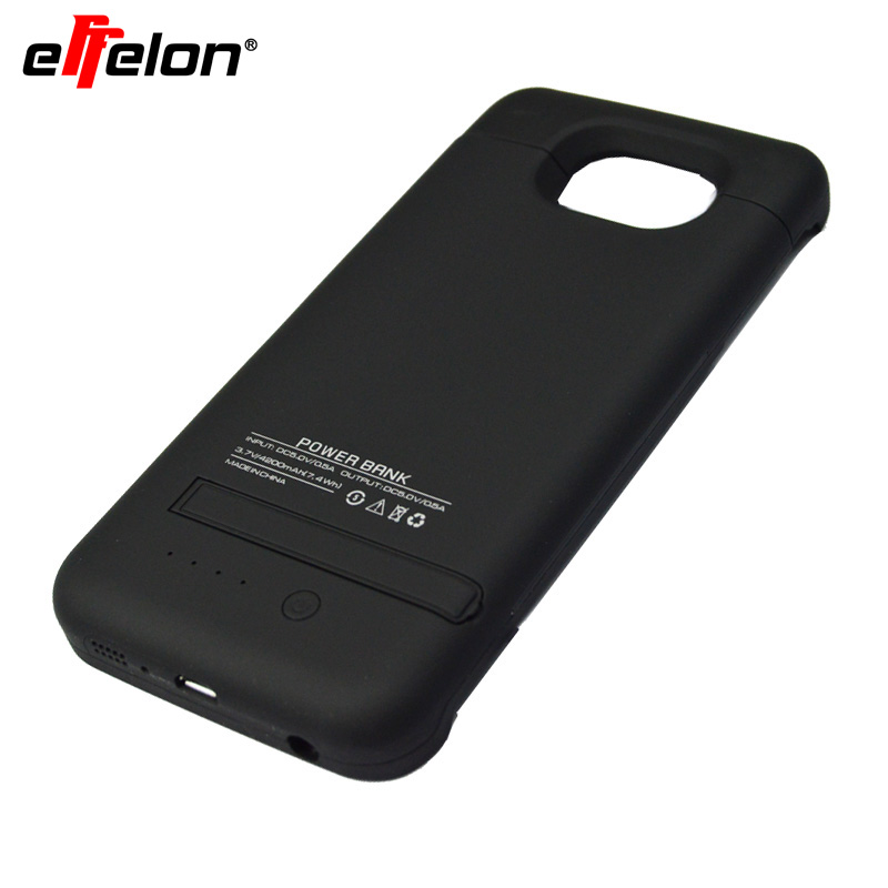 imágenes para Effelon 4200 mah Caso Del Cargador de Batería de Reserva Externo Para Samsung Galaxy S6 S6Edge 4200 mah Banco de Alimentación Cubierta de la Caja