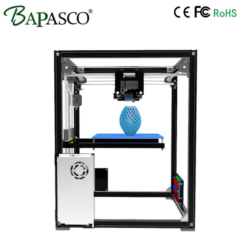 Original Bapasco X5 3D Printer high precision High Quality 3D Printing Larger Priter Size 210*210*280mm 12864P LCD 8GB Card Gift big size 220 220 240mm high quality precision 3d printer diy kit with pla filament 8gb sd card and lcd for free