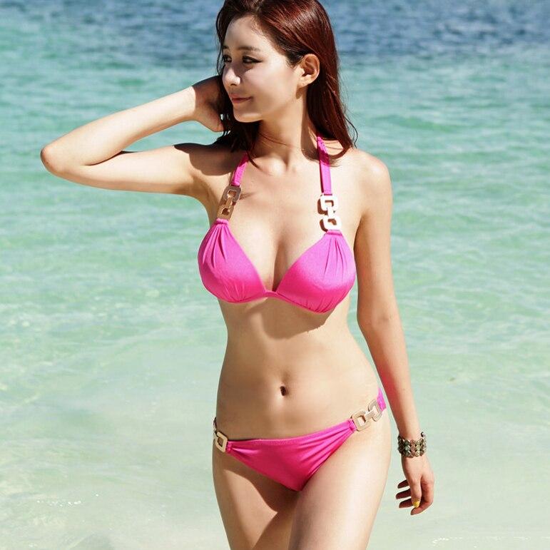 Free Shipping 2015 Sexy Bikini Female Swimwear Pearl Fabric Split Swimsuit On Aliexpress Com Alibaba Group