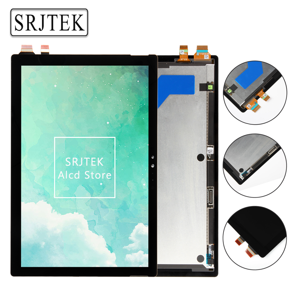 Srjtek 12.3 for Microsoft Surface Pro 5 1796 LP123WQ1(SP)(A2) LCD Screen Touch Digitizer Display Assembly for Surface Pro 2017 new 11 6 full lcd display touch screen digitizer assembly upper part for sony vaio pro 11 svp112 series svp11216px svp11214cxs