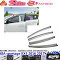 Free shipping car body cover Stick lamp plastic Window glass Wind Visor Rain/Sun Guard Vent 4pcs Kia Sportage KX5 2016 2017