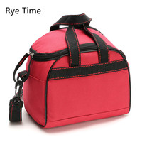 Rye Time 6L Thicken Folding Fresh Keeping Waterproof Nylon Cooler Bag For Steak Insulation Thermal Bag Insulation Ice Pack