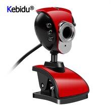 Веб-камера USB 2,0 50,0 м 6 LED Веб-камера ПК камера HD веб-камера с микрофоном 360 градусов поворотные компьютерные камеры для ПК ноутбук камера