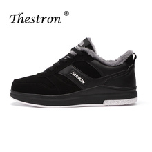2018 Fashion Shoes For Men Black/Grey Warm Jogging Winter CasuaI Trainers With Fur Popular Sneakers