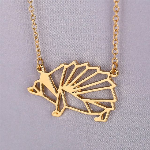 30pcslot New Fashion Unique Hedgehog Necklace Jewelry Goldsilver