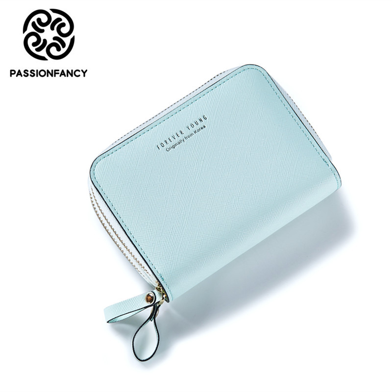 Korean Style Brand Design Women Faux Leather Wallets Coin Bag Small Wallet Purse Double Zipper Short Lady Purse Card Holder 2016 sep women wallets zipper short purse clutch coin bag cat wallet women card holder purses carteiras brand women bag