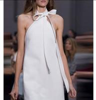 new summer women dress Halter strap white sleeveless tank dress