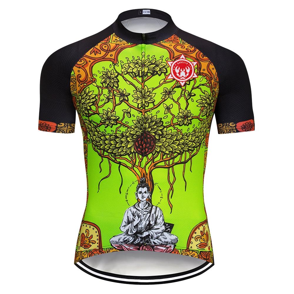 d66f7efb5 Fluorescent color 2018 Banesto Cycling Jersey 9D GEL Pad Bike Shorts MTB  Men s Cycling Clothing summer bike wear