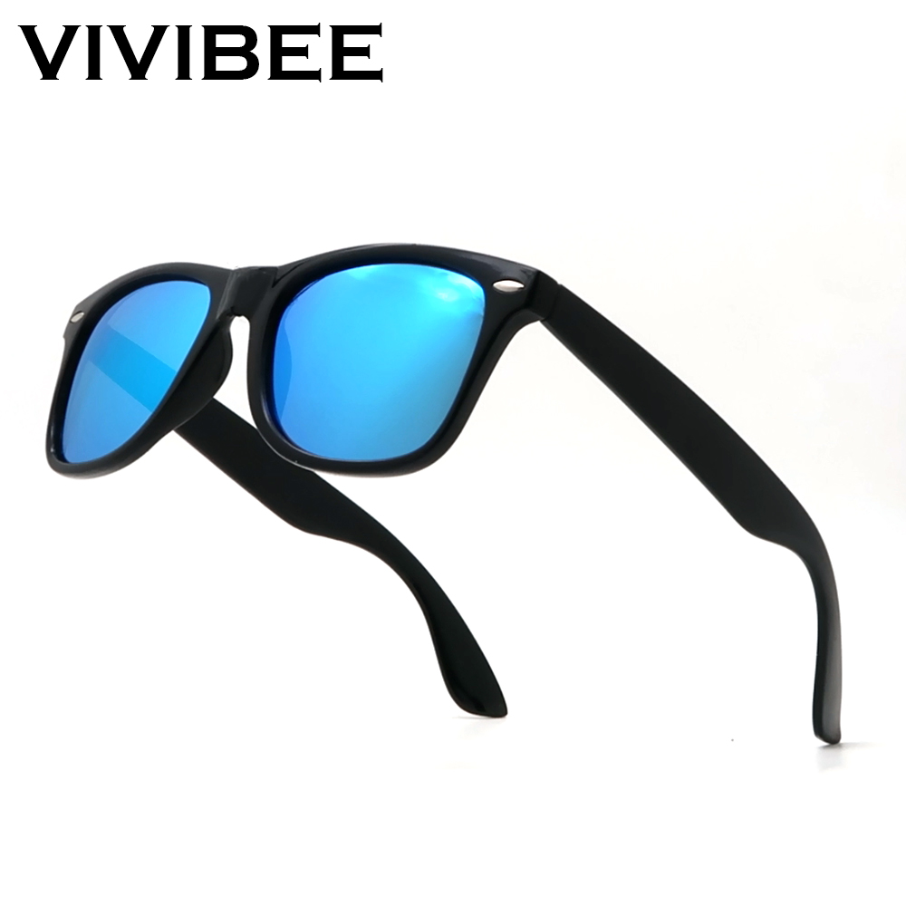 VIVIBEE Classic Sunglasses Men Polarized 2019 Women Blue Lens Polarizing Night Driving Polarised Sun Glasses For Women Driver