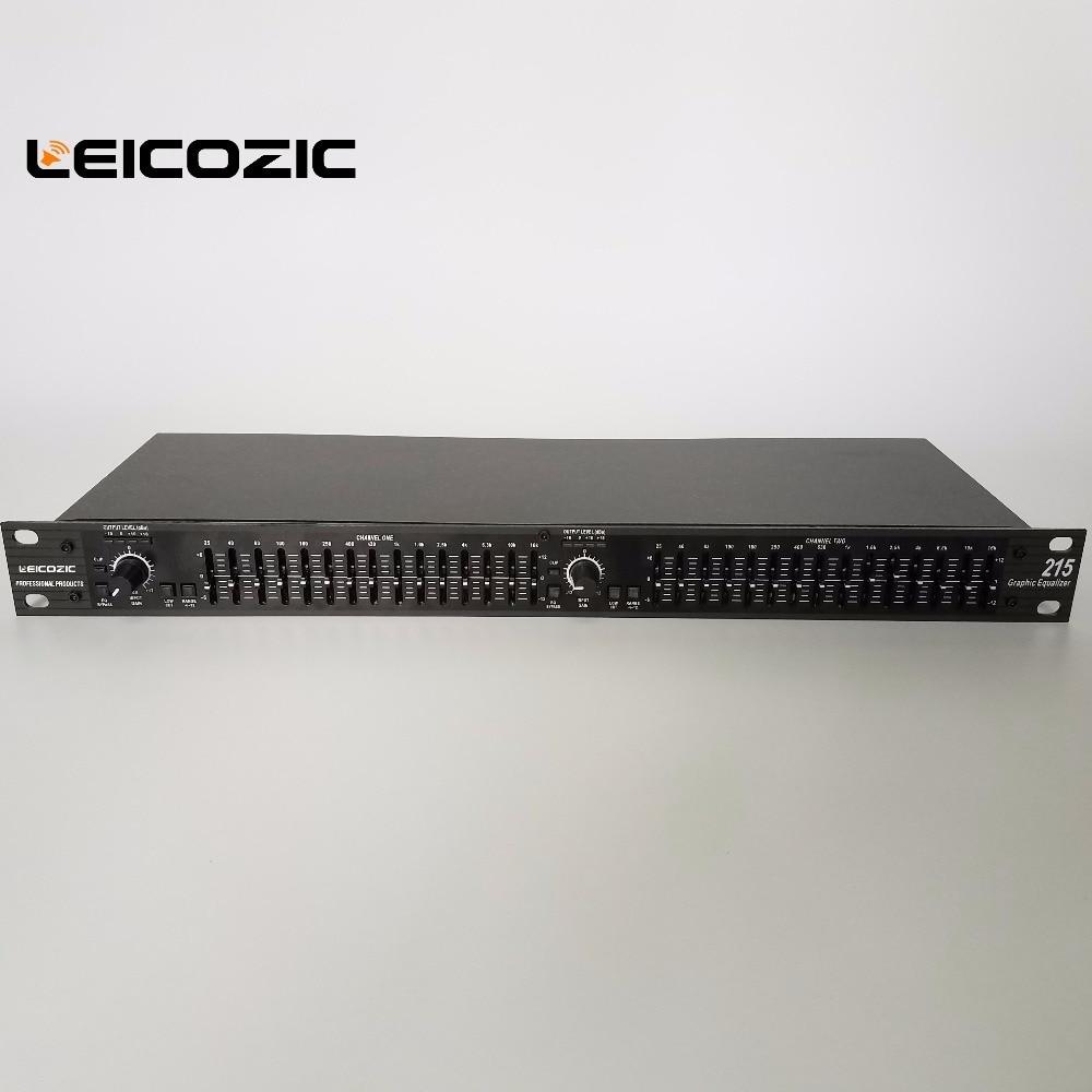 Leicozic Dual Graphic Equalizer EQ215 2x 15 Band Stereo Equalizer Recording Studio Equipment Equipos De Musica Sound System
