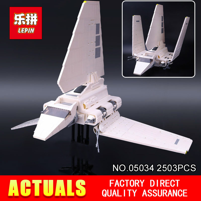 LEPIN 05034 STAR Classic toy Stunning The Assemble Shuttle Building Blocks Bricks Assembled Toys Compatible with 10212 Gift WARS 2018 star space warseries shuttle tydirium building blocks bricks assembled toys compatible with lepins gifts