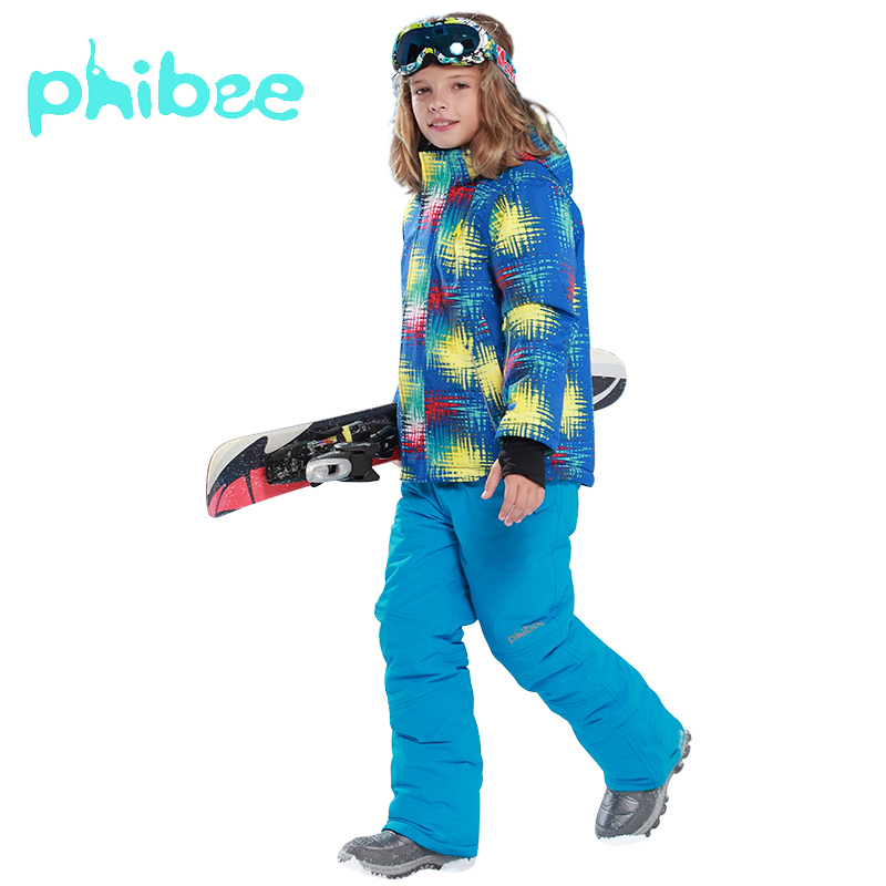 Phibee Ski Suit Baby Girl Boys Clothes Warm Waterproof Windproof Children Clothing Set Snowboard Winter Jacket Kids Clothes Phibee Ski Suit Baby Girl Boys Clothes Warm Waterproof Windproof Children Clothing Set Snowboard Winter Jacket Kids Clothes